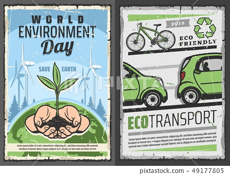 Eco transport and world environment protection day 49177805