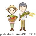 농가 부부 수석 전신 49182910