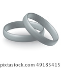 silver wedding ring 49185415