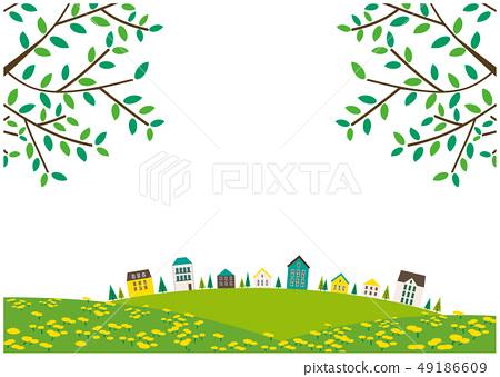 都市風景風景房子樹枝 49186609