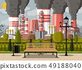 Factory building and city park. 49188040