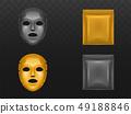 Moisturizing sheet face mask realistic vector 49188846