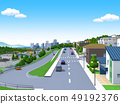 주택가 주택가 도시 거리 집 거주 49192376