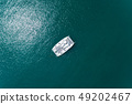 Top view aerial drone shot of sailing boats in 49202467