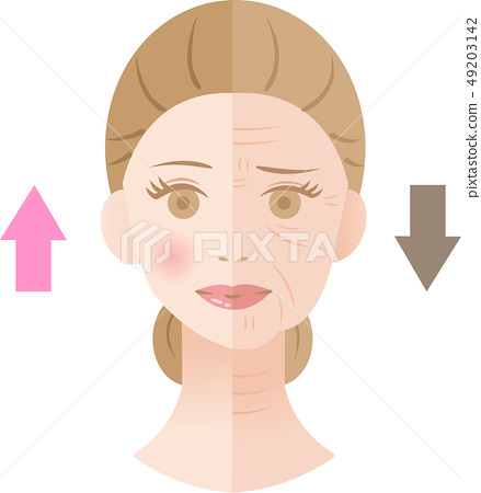 Wrinkled Woman Before After 49203142