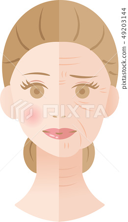 Wrinkled Woman Before After 49203144