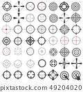 collection of icons, symbols, weapons sights,  49204020