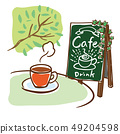 멋진 카페의 풍경 49204598