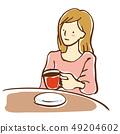 咖啡館的女人 49204602