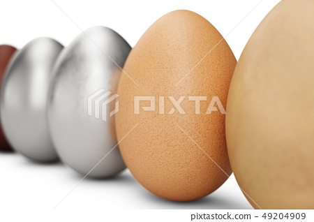 Rows of colorful eggs. Background of eggs. Concept happy easter. Eggs as a symbol of the holiday 49204909