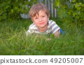 Smiling boy in the park. Camp for preschoolers 49205007