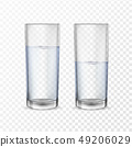 Realistic glasses for drinks with water 49206029