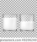 Realistic transparent glasses for milk 49206240