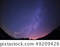 【長野縣幸田高地】銀河系,流星和滿天星空 49209426