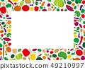 新鲜蔬菜框架例证 49210997
