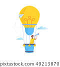 Search to big Idea. Vision, looking for future. 49213870