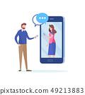 Chatting via Social network. couple having date. 49213883