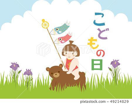 Children's Day Kintaro and Koinobori 49214829