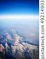 Aerial view from airplane window 49214903