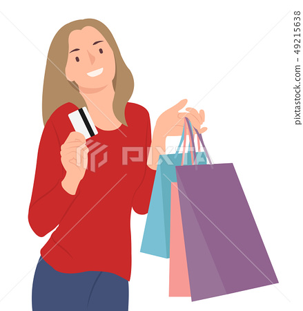 Cartoon people character design woman holding 49215638
