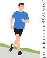 Cartoon people character design young man jogging 49215652