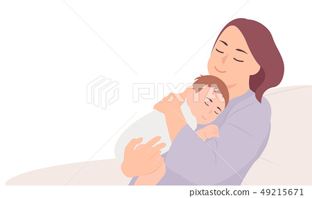 Cartoon people character design young mother 49215671