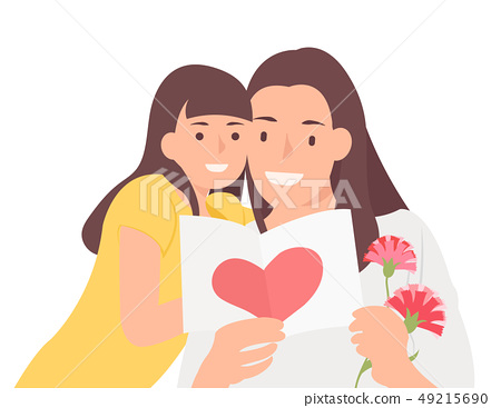 Cartoon people character design happy mother's day 49215690