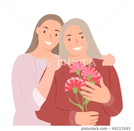 Cartoon people character design happy mothers day 49215693