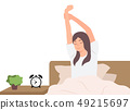 Cartoon people character design woman stretching 49215697