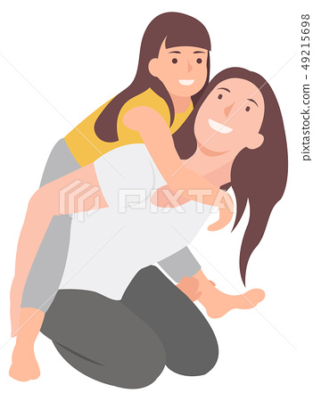 Cartoon people character design mother and child 49215698