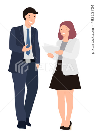 Cartoon people character design business man and 49215704