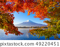 Mountain fuji with red maple in Autumn, 49220451