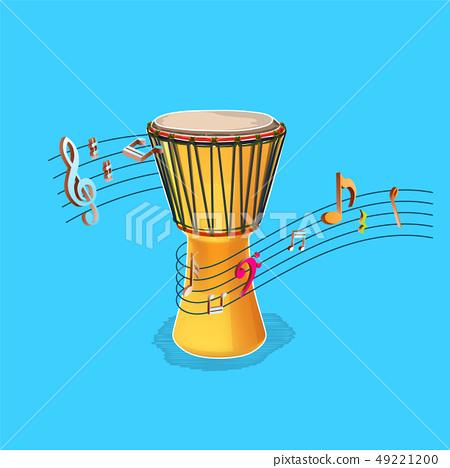 Vector Djembe Illustration,Vecor African Drum 49221200