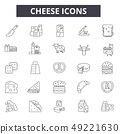 Cheese line icons for web and mobile. Editable stroke signs. Cheese outline concept illustrations 49221630