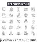 Teaching line icons for web and mobile design. Editable stroke signs. Teaching outline concept 49221884