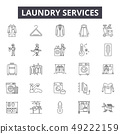 Laundry services line icons for web and mobile design. Editable stroke signs. Laundry services 49222159