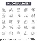 Hr consultants line icons for web and mobile design. Editable stroke signs. Hr consultants outline 49222868