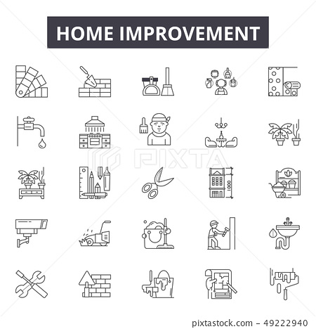 Home improvement line icons for web and mobile design. Editable stroke signs. Home improvement 49222940