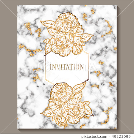 Luxury and elegant wedding invitation cards... - Stock ...
