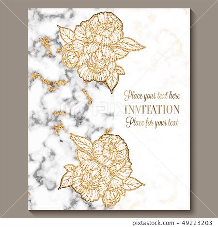 Luxury and elegant wedding invitation cards... - Stock ...