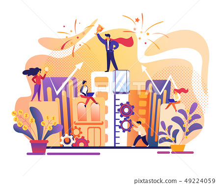Business Success. Office People Working Together. 49224059