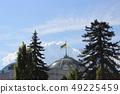The Ukrainian Parliament with a Ukrainian flag on 49225459