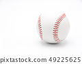 Isolated baseball on a white background and red 49225625
