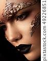 Futuristic make up. Close up portret. Macro 49226851