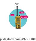 Portable radio transceiver. Walkie talkie 49227380
