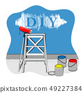 Painting the house,Vector DIY illustration 49227384