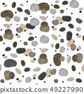 Seamless abstract circles gouache and acrylic 49227990