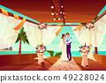 Wedding ceremony on ocean shore cartoon vector 49228024