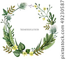 Wild Plants wreath 49230587