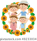 In pop family summer clothes! Sunflower frame 49233034